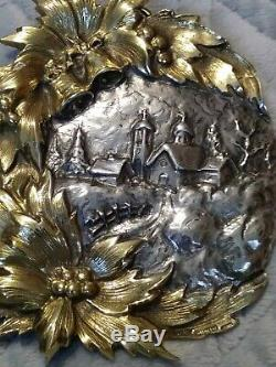 1st Edition Buccellati 1986 Village Sterling Silver Christmas Ornament #193/500