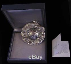 2000 Buccellati Silver IL Mondo Peace On Earth Christmas Ornament Box & Coa