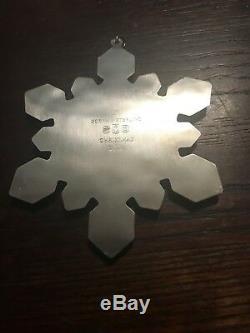 2001 Gorham Sterling Silver Snowflake Christmas Ornament