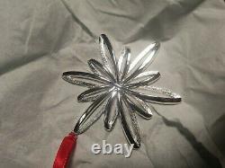 2004 Tiffany & Co 925 Sterling Silver 3 Snowflake Ornament