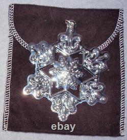 2009 Gorham Sterling Silver 40th Christmas Snowflake Ornament Pendant Medallion