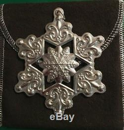 2009 Gorham Sterling Silver Snowflake Christmas Ornament, Collectible