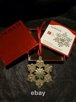 2009 Gorham sterling Silver Snowflake Christmas Ornament Rare