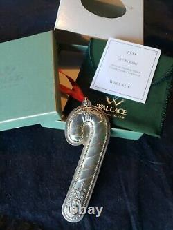 2009 Wallace sterling Silver Christmas Ornament Candy Cane Extremely Rare Year
