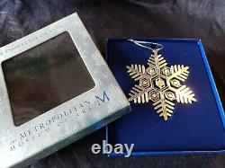 2010 Mma Sterling Silver Snowflake Christmas Ornament