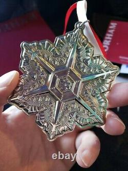 2011 Gorham sterling Silver Snowflake Christmas Ornament