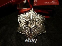 2011 Gorham sterling Silver Snowflake Christmas Ornament Rare