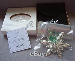 2011 Towle Old Master 22nd Annual Sterling Silver Snowflake Christmas Ornament