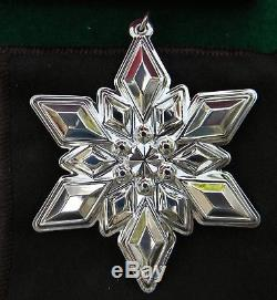 2013 Gorham Sterling Silver Snowflake Christmas Ornament withBox 44th In Series