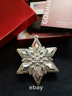 2013 Gorham sterling Silver Snowflake Christmas Ornament Rare