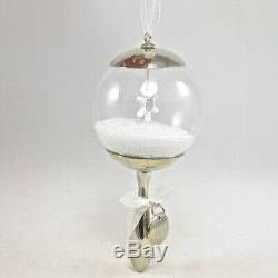 2013 Hallmark Baby's First Christmas Ornament Silver Rattle Snow Globe 1st DB
