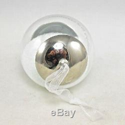 2013 Hallmark Baby's First Christmas Ornament Silver Rattle Snow Globe 1st DB