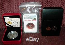 2015 CANADA $25 CHRISTMAS ORNAMENT ENAMELED SILVER COIN WithBOXES NGC PF70 UC ER