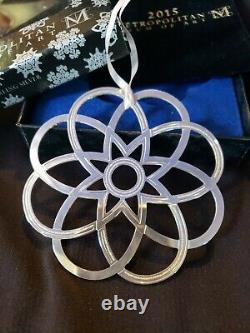 2015 Mma Sterling silver Snowflake Christmas Ornament Extremely rare