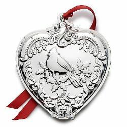 2016 Wallace 25th Annual Grande Baroque Sterling Silver Heart Ornament Medallion