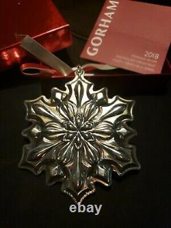 2018 Gorham Sterling Silver Snowflake Christmas Ornament