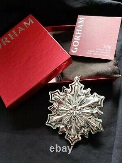 2018 Gorham Sterling Silver Snowflake Christmas Ornament Rare