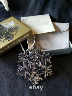 2018 Mma Sterling Silver Snowflake Christmas Ornament Extremely rare