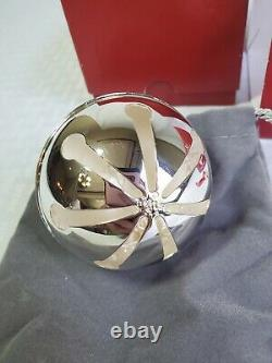 2018 Wallace Silver Plate Sleigh Bell Ornament