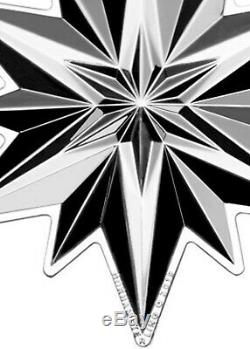 2019 GORHAM 50th Sterling Silver Christmas Snowflake Ornament Medallion 2 pc Set
