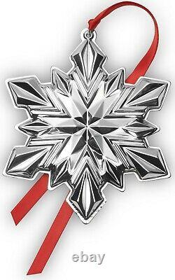 2020 GORHAM 51st Sterling Silver Christmas Snowflake Ornament Pendant Medallion