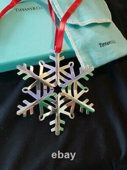 2020 Tiffany sterling Silver Snowflake Christmas Ornament Extremely Rare