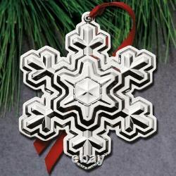 2021 Gorham Snowflake 52nd Edition Annual Sterling Ornament NIB