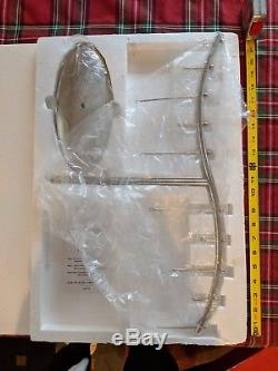21 Crate & Barrel Silver Ornament holder Centerpiece Christmas Display