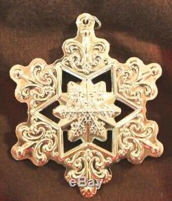 5 GORHAM 2005, 06 07 08 09 Sterling Silver Snowflake Christmas Ornaments