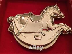 (5 Ornaments) Kirk Stieff Williamsburg Silver Plate Christmas Ornaments