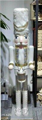 5ft Life-size Handmade Giant Silver Drummer Christmas Nutcracker Ornament