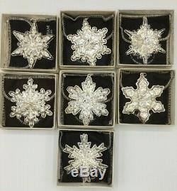 7 Gorham Silver Christmas Snowflake Ornament 1970 1971 1972 1973 1974 1975 1978