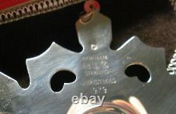 7 Gorham Sterling Silver 1979 Snowflake Christmas Ornament Pendant Mib