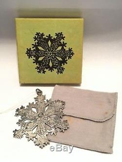 8 Sterling Silver MMA Christmas Snowflake Ornament 71 72 73 74 75 76 77 79 Boxed