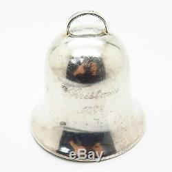 925 Sterling Silver Vintage 1979 John Halls Annual Bell Christmas Ornament
