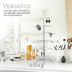 ADORABLE Decorations Metal Christmas Ornament Display Holder Tree Stand Silver