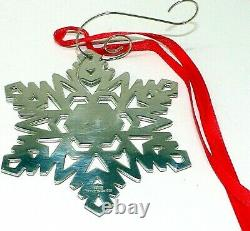 AUTHENTIC TIFFANY & CO STERLING SILVER 2000 Snowflake LARGE ORNAMENT CHRISTMAS +