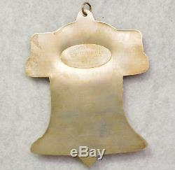 American Heritage Collection Christmas Ornament 1988 Liberty Bell Gorham Silver