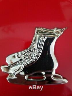 American Heritage New England Sterling 1997 Ice Skates Christmas Ornament