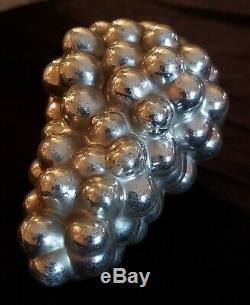 Antique Christmas Ornament Kugel Silver Grape Cluster