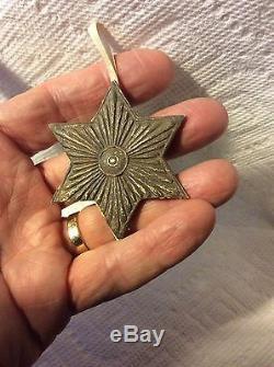 Antique Dresden German Silver Star Christmas Ornament