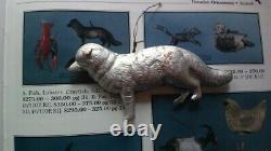 Antique German Dresden Victorian Fox Silver Embossed Cardboard Xmas 3d Ornament