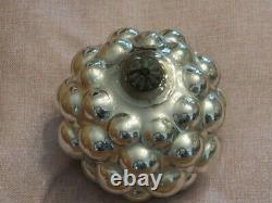 Antique German Rare Silver Berry Kugel Christmas Ornament
