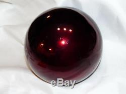 Antique Kugel Christmas Ornament 6 Burgundy Mercury Glass Ball Ornament