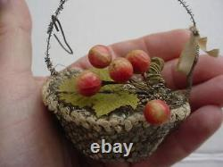 Antique Sebnitz Fruit Basket Christmas Ornament Germany