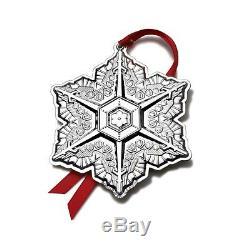 BNIB 2011 GORHAM Sterling Silver Christmas Snowflake Ornament Pendant Medallion