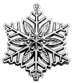 BNIB 2012 GORHAM Sterling Silver Christmas Snowflake Ornament Pendant Medallion