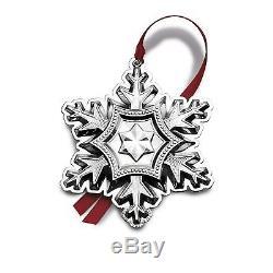 BNIB 2014 GORHAM Sterling Silver Christmas Snowflake Ornament Pendant Medallion