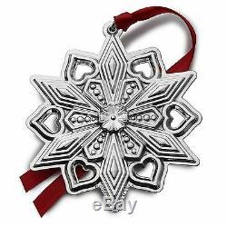 BNIB 2015 GORHAM Sterling Silver Christmas Snowflake Ornament Pendant Medallion