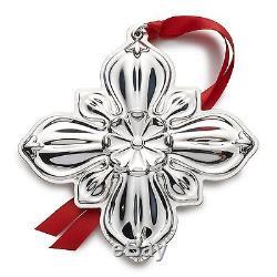 BNIB 2016 GORHAM 3rd Sterling Silver Christmas Cross Ornament Pendant Medallion